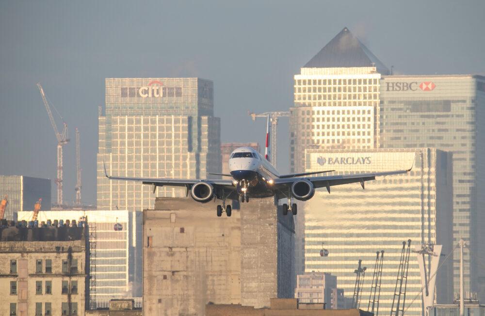 BA CityFlyer Arrival London City