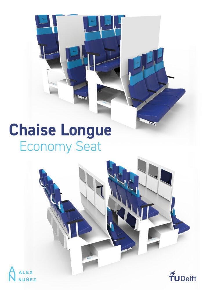 Chaise Longue economy class seat