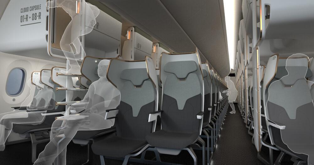 cloud capsule luggage bin sleeping