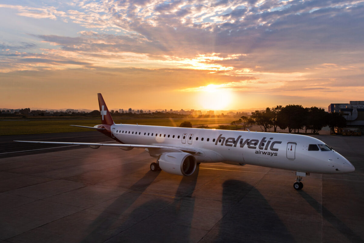 Helvetic Airways Takes Its 1st Of 4 Embraer E195-E2 Aircraft