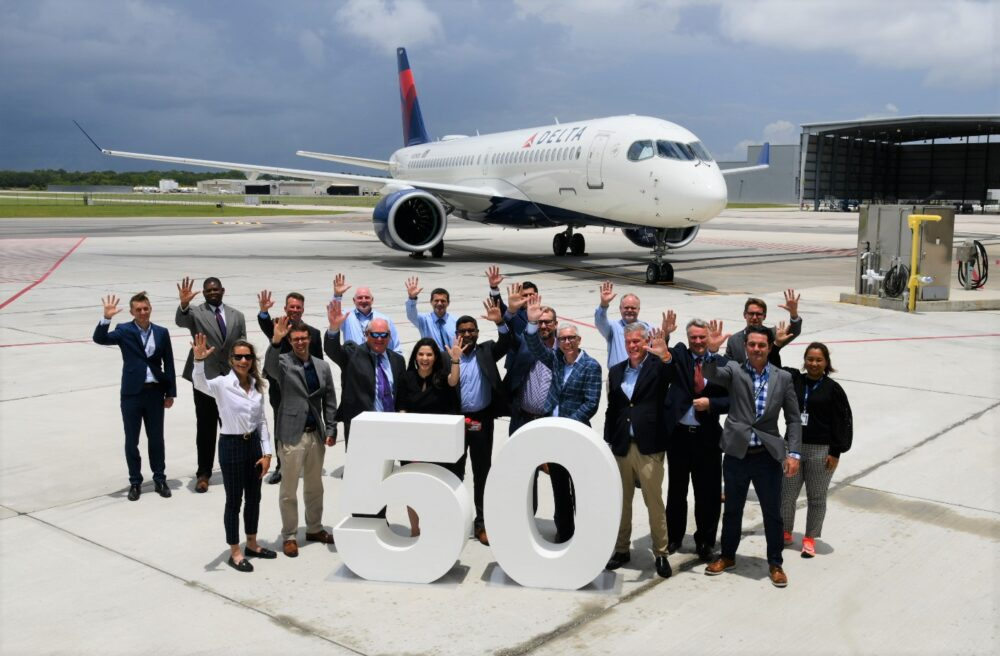 Delta Airbus 50th A220 Delivery