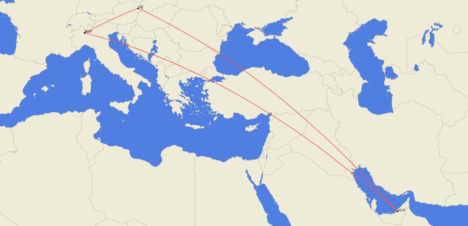 Etihad, Boeing 787-10, Vienna