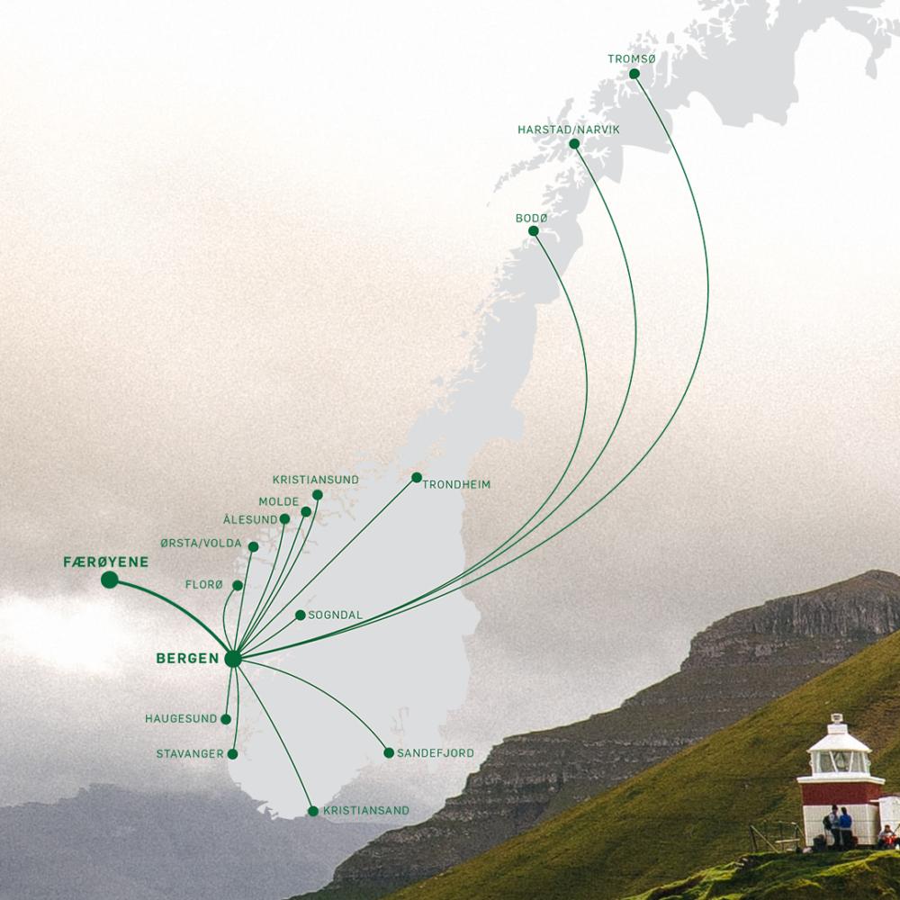 Widerøe Faroe route
