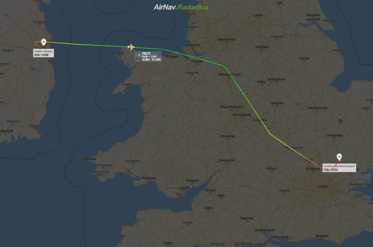 Ryanair, Boeing 737 MAX, First Flight