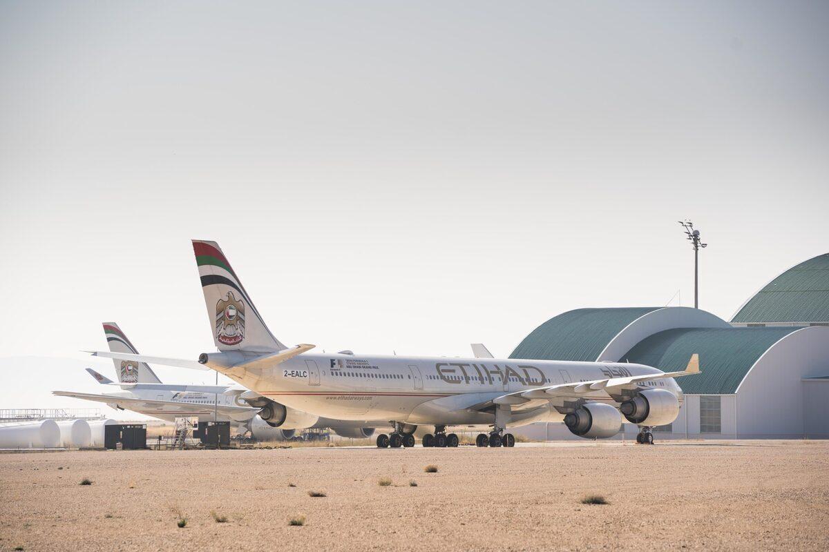 Etihad, Airbus A380, Teruel