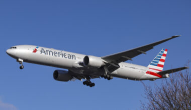 American Airlines Boeing 777-300 with registration N717AN is