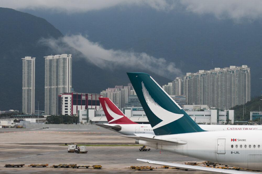 Cathay Pacific plane Hong Kong
