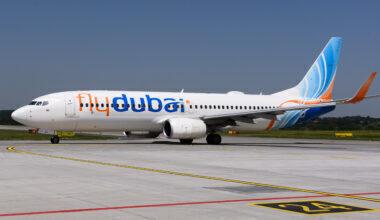 Fly dubai Air Boeing 737-800 Aircraft seen at the Krakow