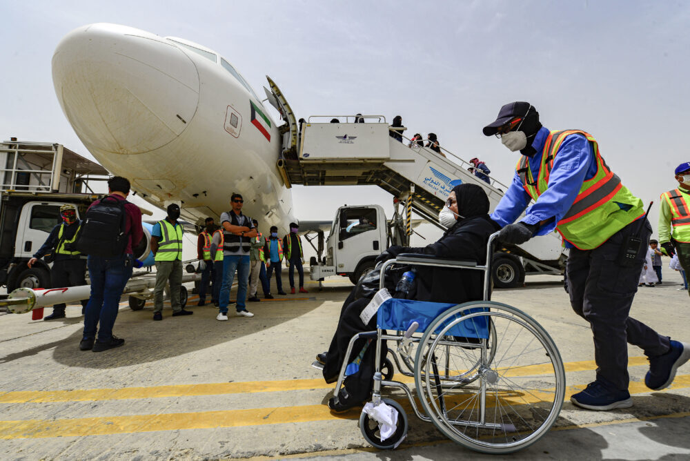 Wheelchair aircraft flying travel