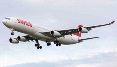 SWISS A340 getty