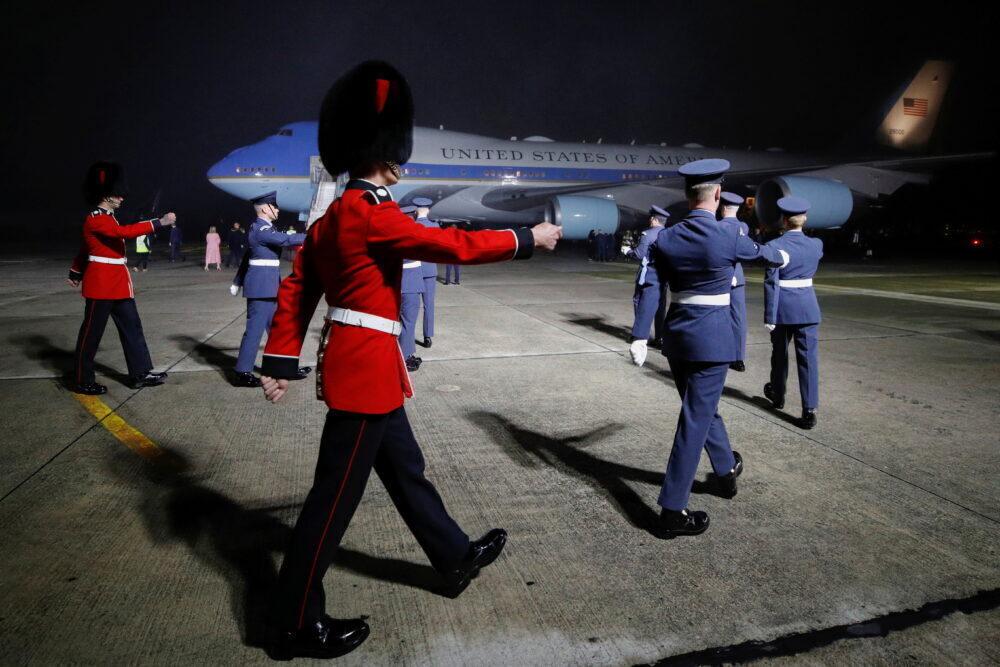 Air Force One, Joe Biden, United Kingdom