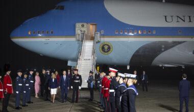 U.S. President Joe Biden arrives In U.K. for G-7 Summit