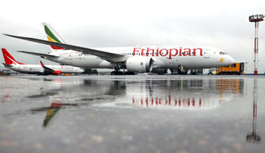 Ethiopian Airlines passenger plane presented at Moscow's Domodedovo Airport