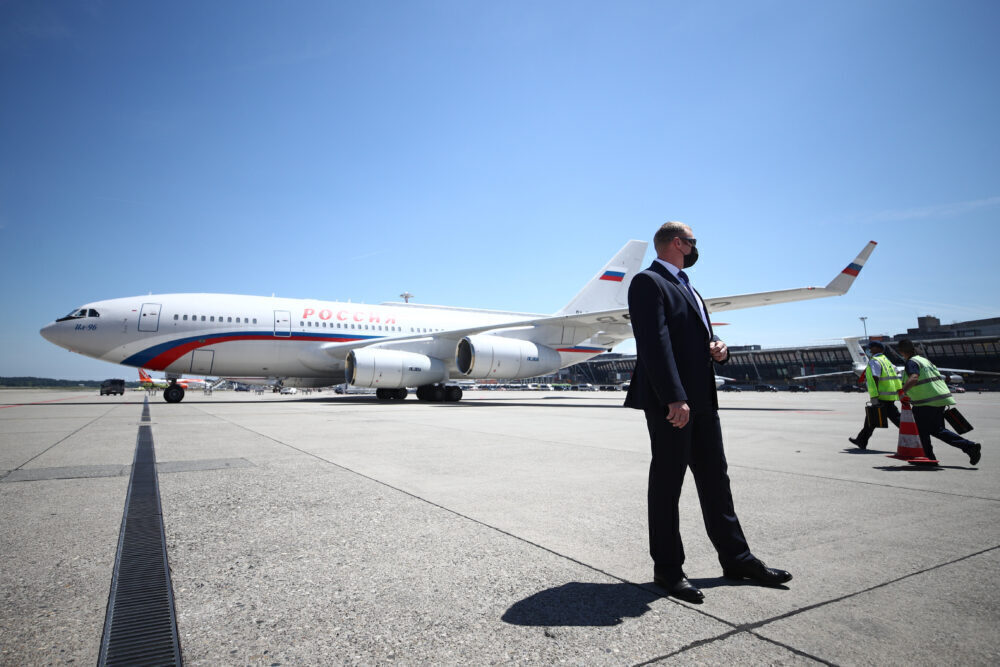 Geneva Airport on day of Russia-United States summit