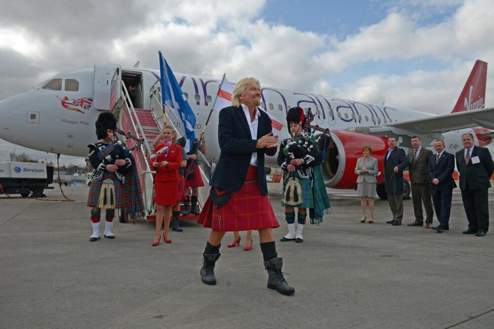 Richard Branson Virgin Atlantic Little Red