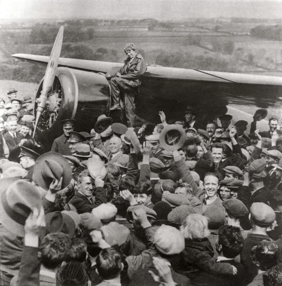 The American aviator, Amelia Earhart