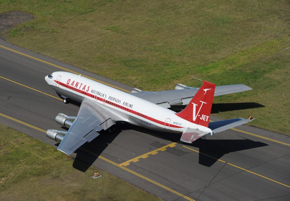 John Travolta's Boeing 707 At Sydney Airport