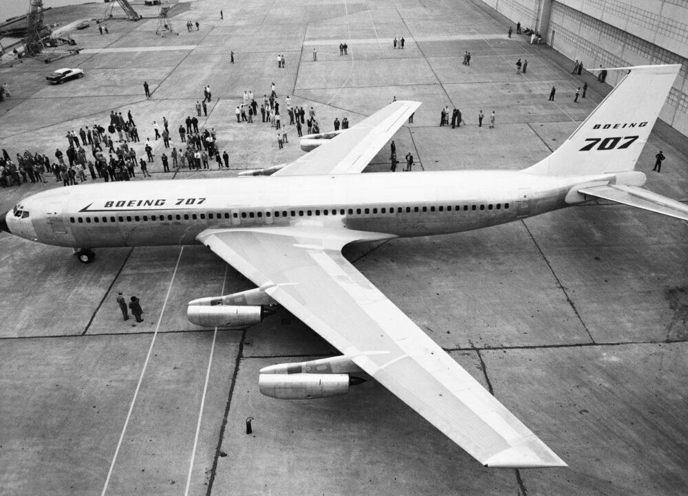 Boeing 707 Headed for Paint Hangar
