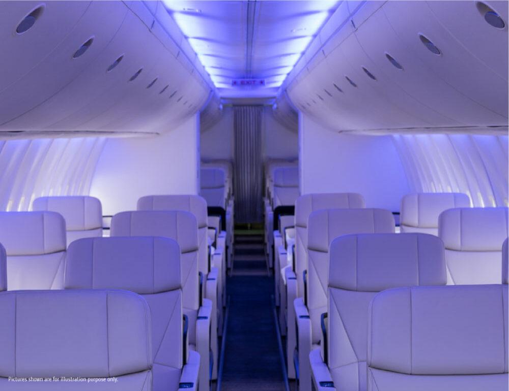 Prince Air A320 Cabin