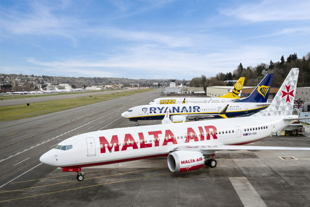 First Ryanair Boeing 737 MAX Departs From Seattle