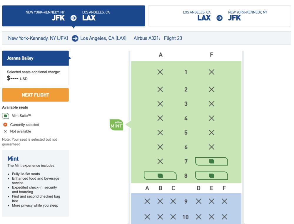 JetBlue's New Premium Mint Cabin Arrives On Domestic Routes