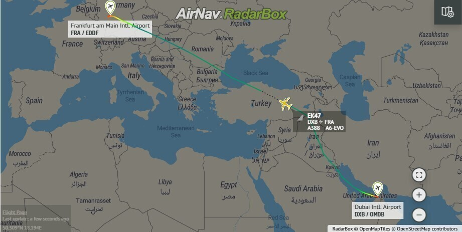 Emirates, Airbus A380, A6-EVO