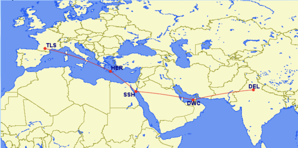 A Look At The Delivery Route For A Turboprop From Toulouse To New Delhi