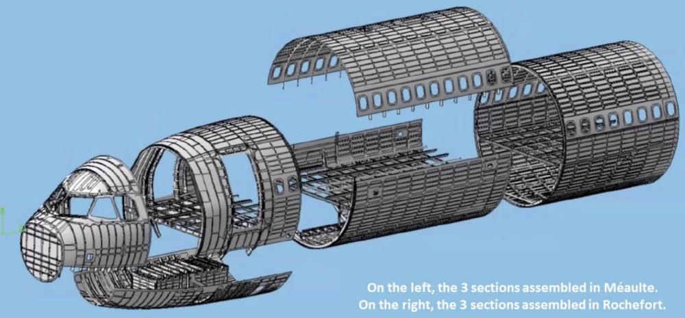 A321XLR front fuselage