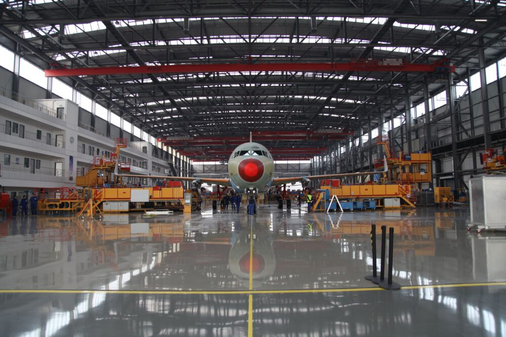 China Begins Equipping Airbus A320 Fuselages In Tianjin