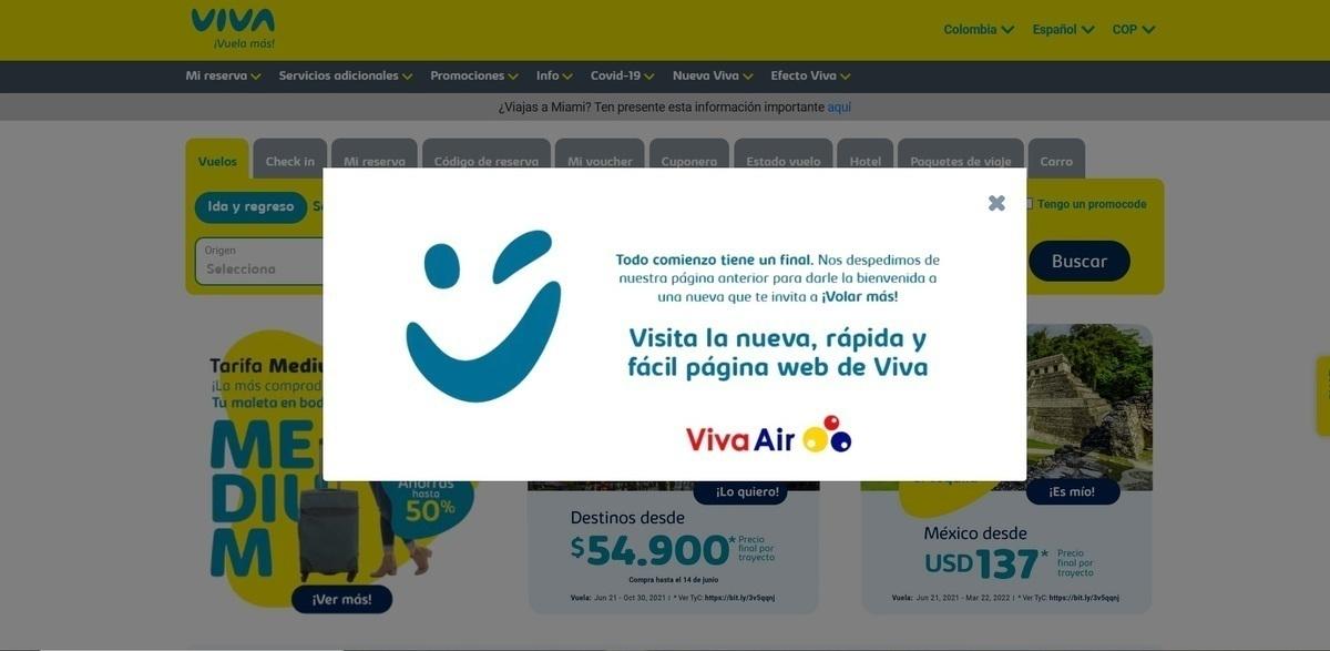 Viva website