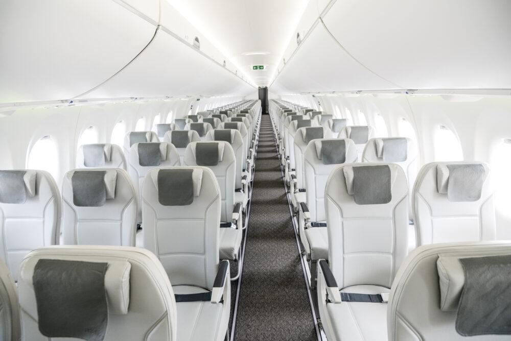 airBaltic A220 interior