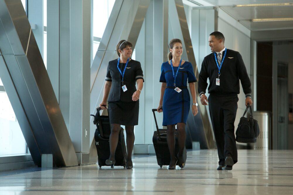United flight attendants