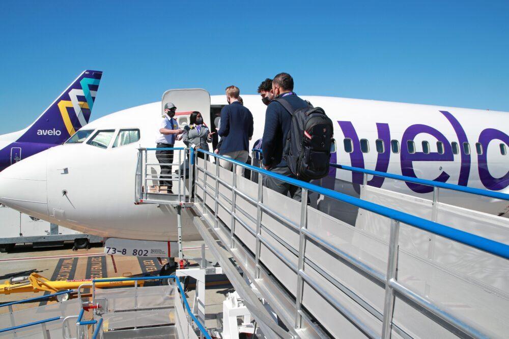 Avelo Airlines 737 Passengers Boarding
