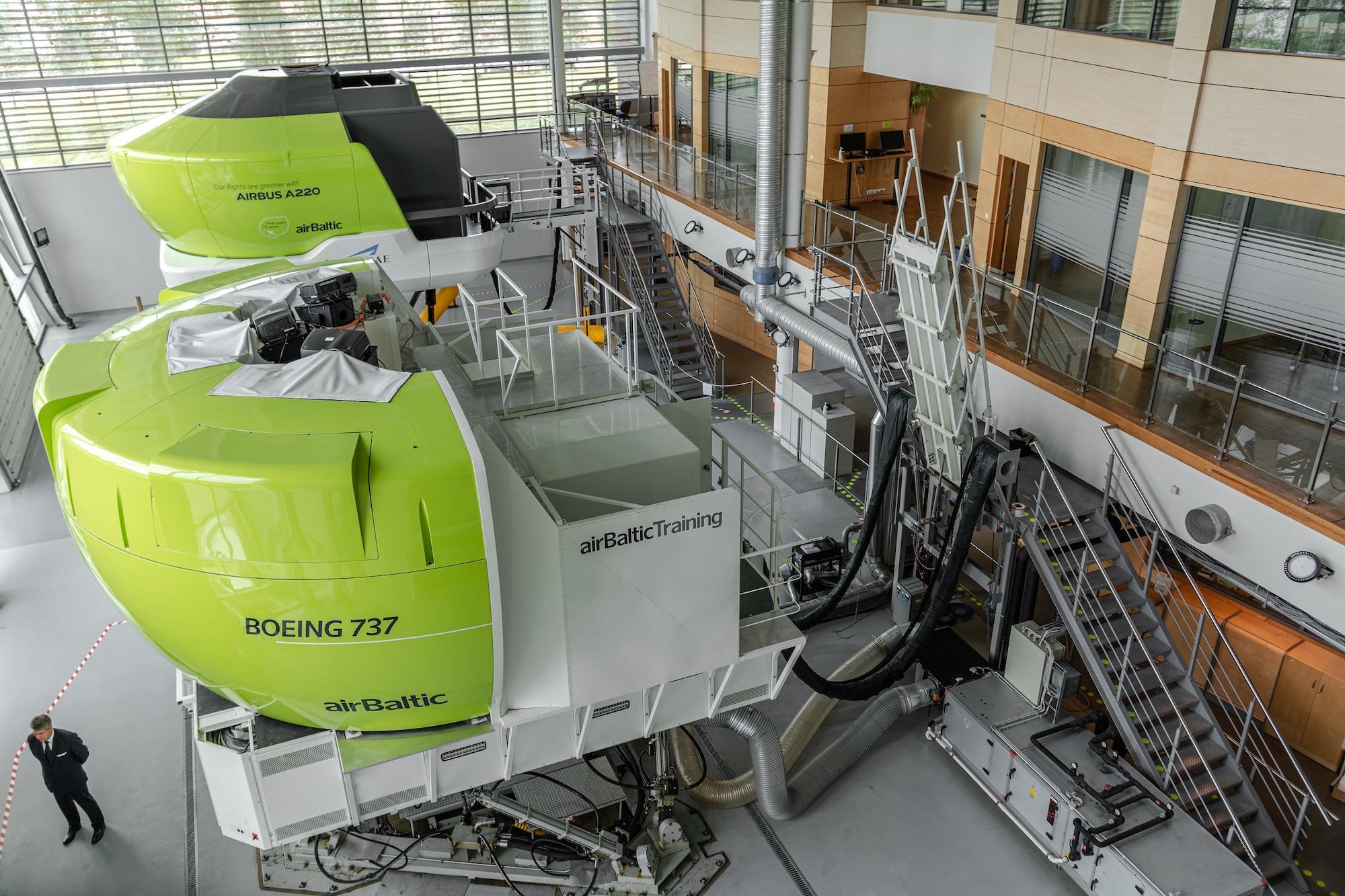 airbaltic, 737 simulator, retirement