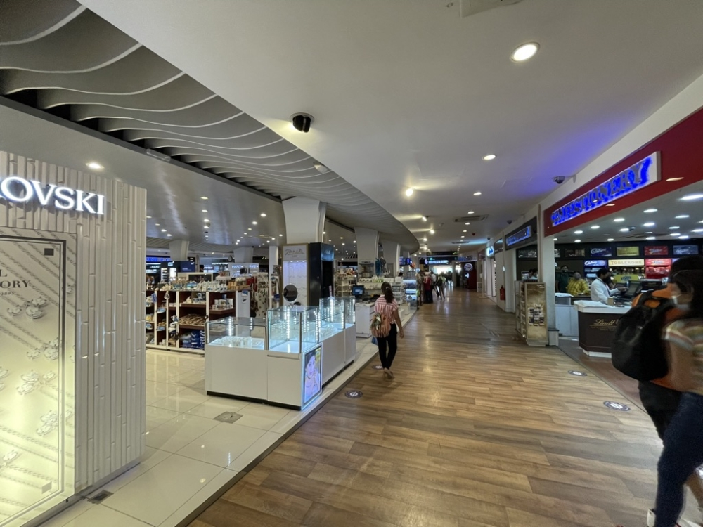 Male Airport terminal duty free
