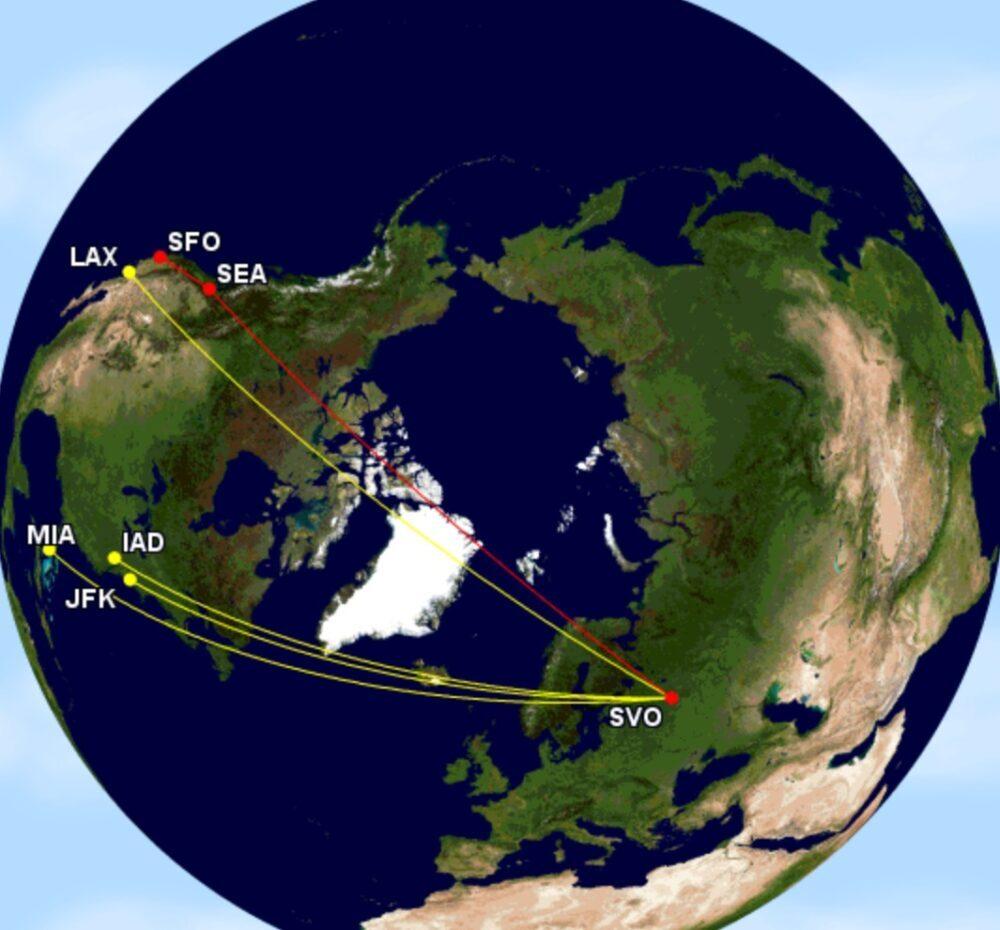 Aeroflot to the USA