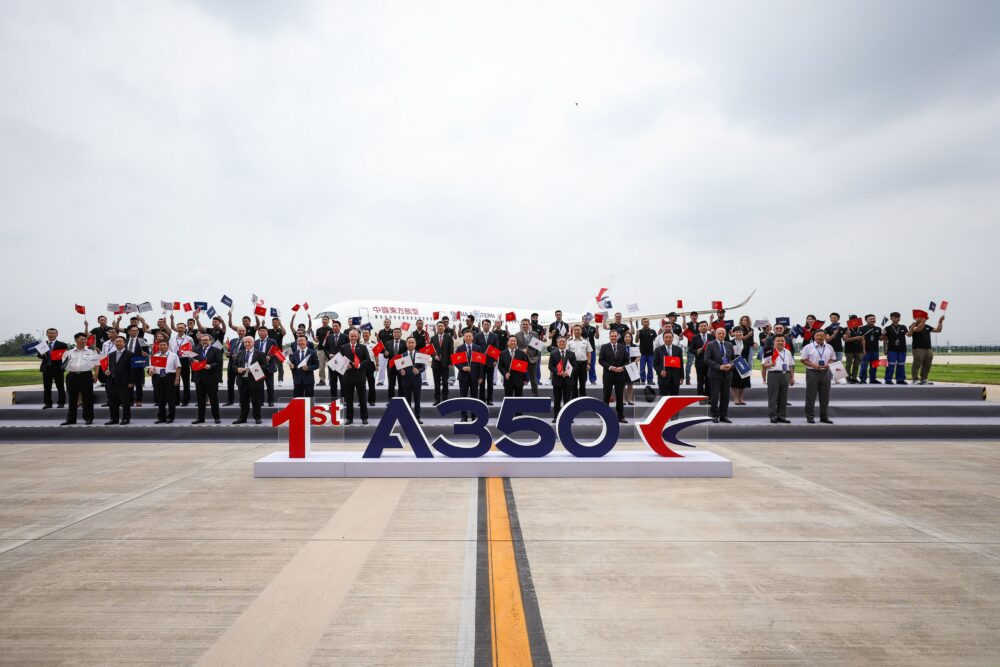 Airbus Delivers First A350 From Its Widebody Completion And Delivery Centre In China