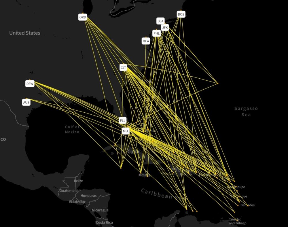 American's Caribbean network