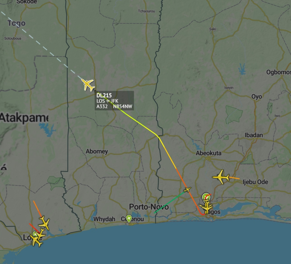 DL215 from Lagos to JFK