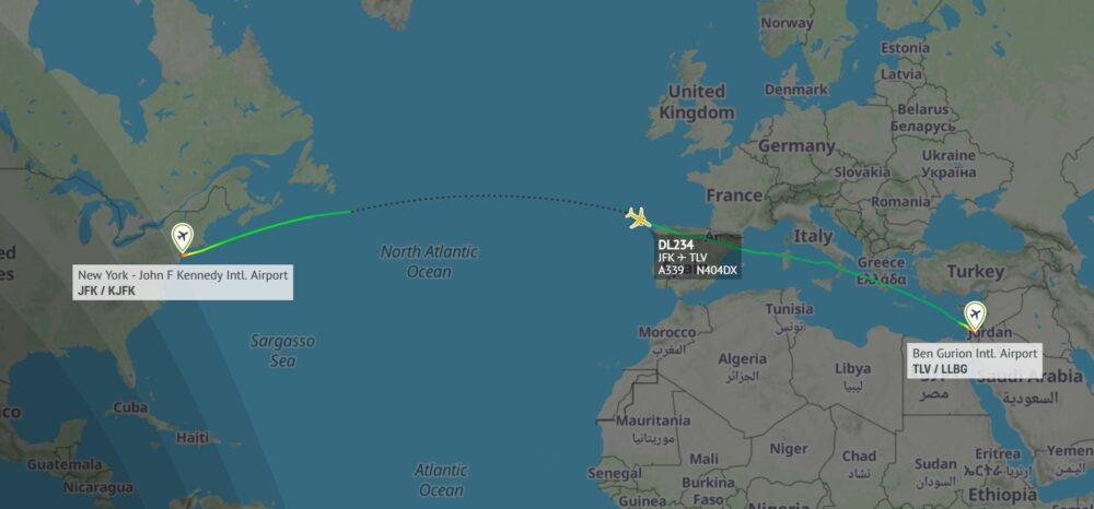 Delta JFK to Tel Aviv