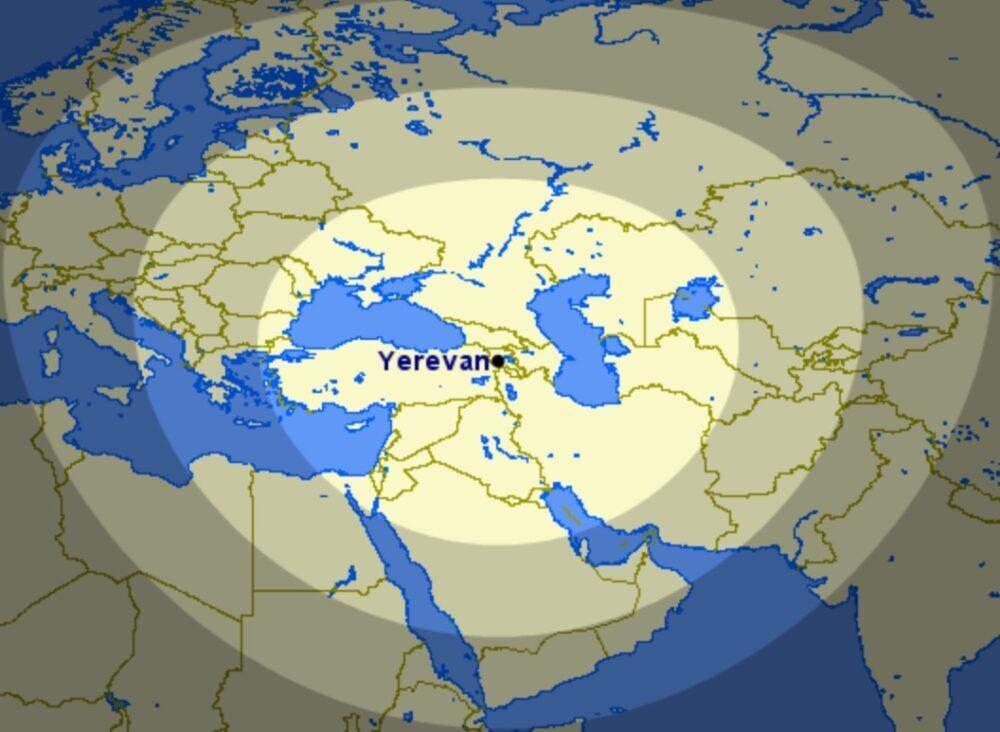 Distance from Yerevan