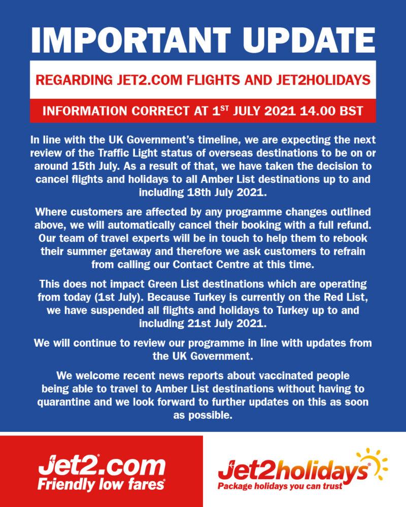 Jet2 Resumes International Travel And Launches Bristol Flights
