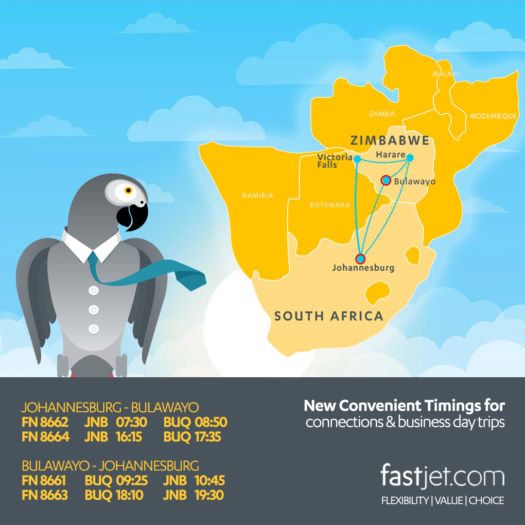 fastjet route map