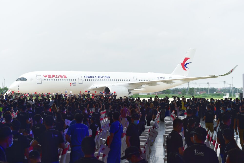 Airbus china first A350-900 china eastern