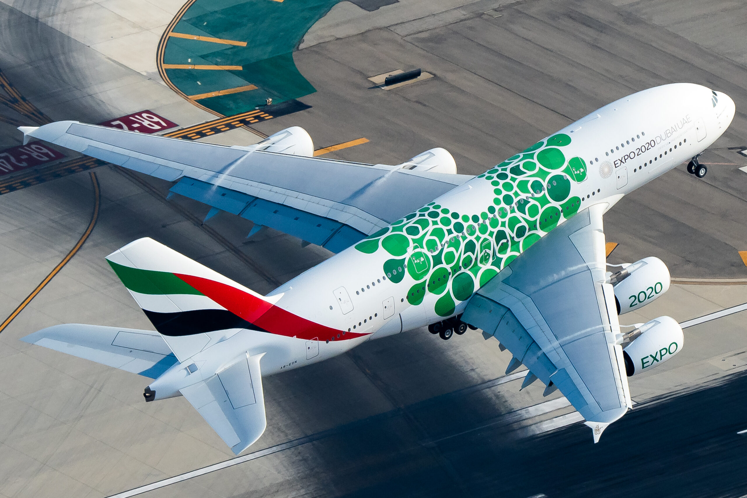Emirates, Airbus A380, London Stansted
