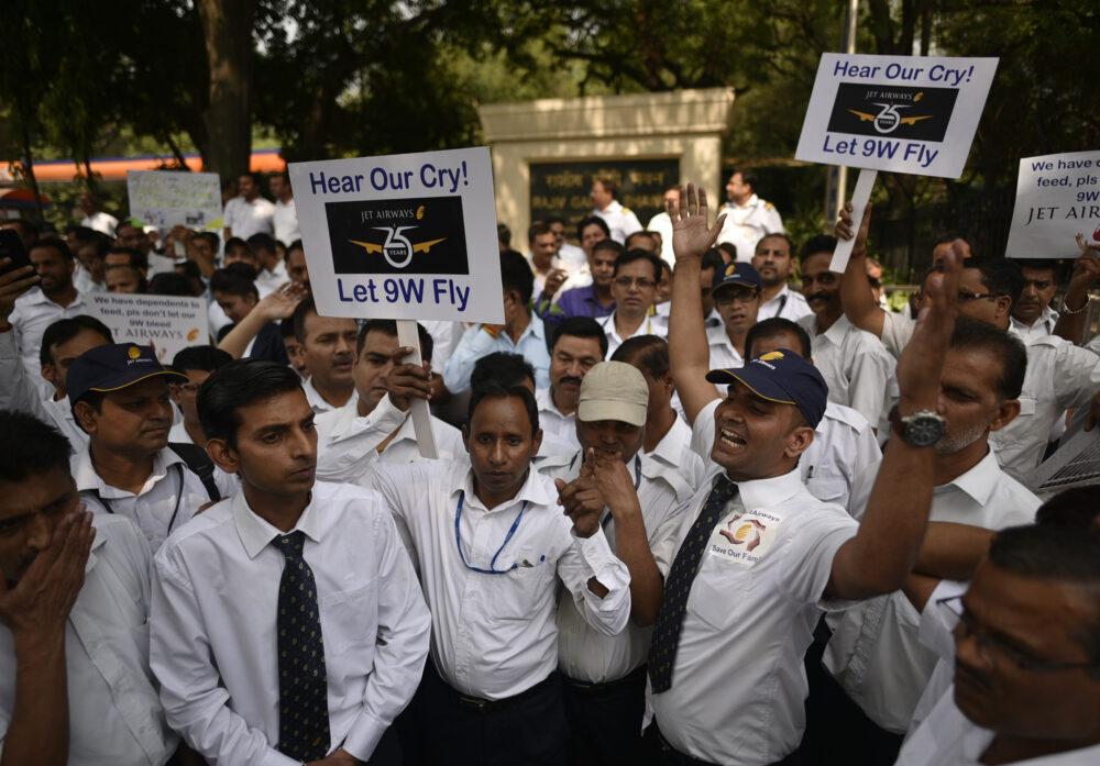 Jet Airways Employees Protest Getty