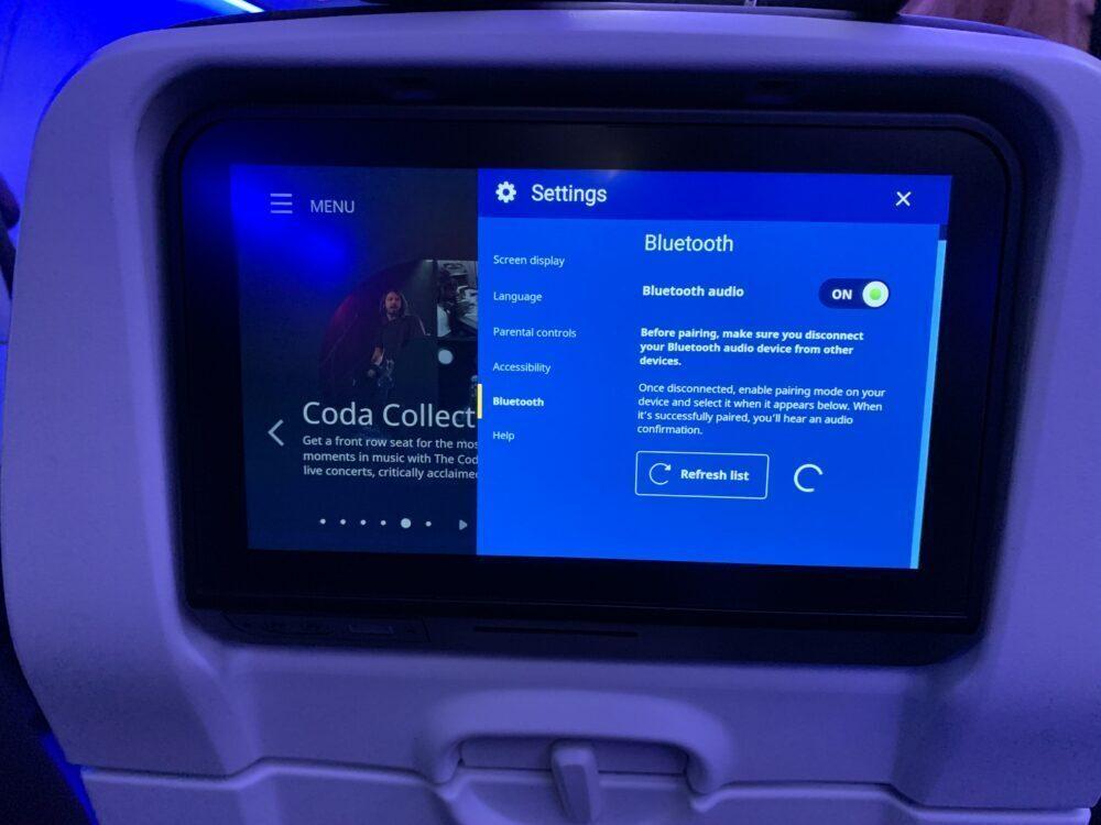 United bluetooth pairing screen