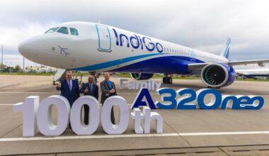 IndiGo 1,000th A320neo Family Aircraft