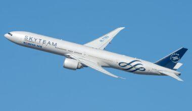 Korean Air SkyTeam Boeing 777