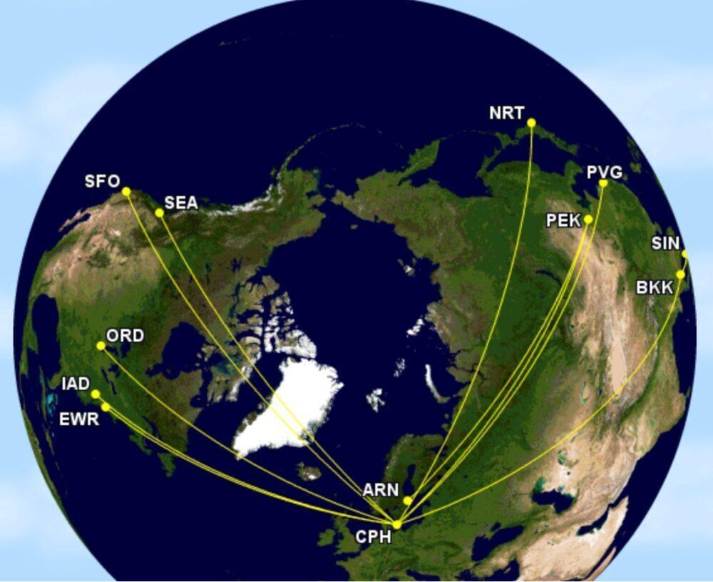 SAS' top-10 A340 routes